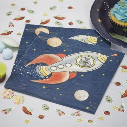 Space Adventure Paper Party Napkins - pack of 20